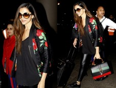 Deepika Padukone In H&M X Kenzo Outfit Spotted At Airport Photos