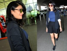 Shruti Hassan's Airport Look Photos