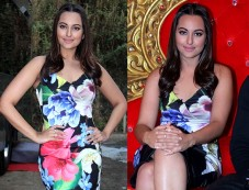 Sonakshi In Body-fitting Dress For Force 2 Promotions Photos
