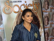 Vidya Balan Unveils Society Magazine Photos
