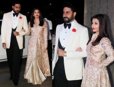 Aishwarya And Abhishek Make A Royal Couple Entry At Manish Malhotra Birthday Bash Photos
