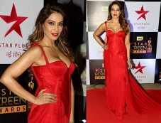 Bipasha Basu Looks Simply Gorgeous In This Red Hot Look At Star Screen Awards Photos