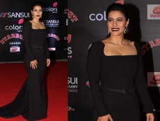 Kajol Rocking In Black Dress For Stardust Awards Photos