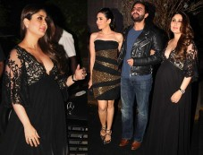 Kareena And Saif Along With Karishma Kapoor At Manish Malhotra's 50th Birthday Bash Photos