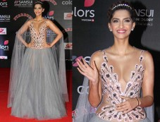 Sonam Kapoor Looking Gorgeous At Stardust Awards Photos