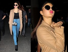 Jacqueline Fernandez Pulls Off A Trench Coat Photos