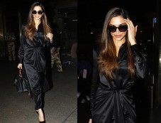 Queen Deepika Padukone In Black Dress Spotted At Airport Photos