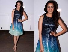 Shraddha In Ombre Blue Dress Promotes Ok Jaanu Photos
