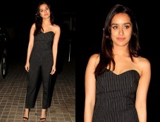 Shraddha Kapoor Looks Pretty In Black Dress At OK Jannu Promotions Photos