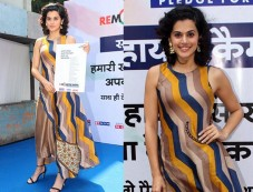 Tapsee Panu Promotes Remonetise India Campaign Photos
