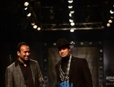 Designer Dhruv Vaish Showstopper Sangram Singh at AIFW 2017 Photos