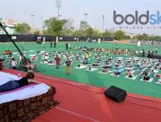 Shilpa Shetty Performs Yoga In Jaipur Photos