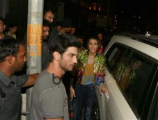 Sushant Singh Rajput And Kriti Sanon At Unplugged Cafe In New Delhi Photos