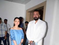 Sanjay Dutt And Aditi Rao Hydari Promote Bhoomi At A Radio Station Photos