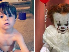 Creative PhotoShoot  Of Three-year-old Louie As Pennywise Photos