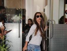 Malaika Arora Spotted At Salon In Mumbai Photos