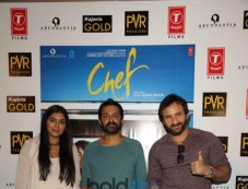 Saif Ali Khan , Padmapriya Janakiraman And Director Raja Krishna Menon Promoted Chef In New Delhi Photos