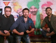 Sunny Deol, Bobby Deol and Shreyas Talpade Promotes Poster Boys In New Delhi Photos