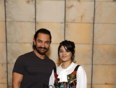 Aamir Khan With Zaira Wasim At An Exclusive Photoshoot And Press Meet, In New Delhi Photos