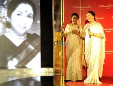 Asha Bhosle Unveiling Asha Bhosle Madame Tussauds , In New Delhi Photos