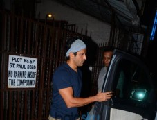 Farhan Akhtar Spotted At Bandra Photos