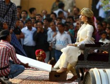 Kangana Ranaut Shooting For Manikarnika In Her Rani Laxmi Bai Look, At Amber Fort, In Jaipur Photos
