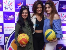 Launch Of Tony Premier League-Throwball (Women) At Taj Land End Photos