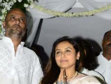 Rani Mukerji Pics Post The Prayer Meet Photos
