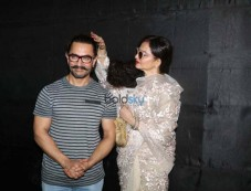 Rekha,Ranbir Kapoor And Others At Secret Superstar Screening Photos
