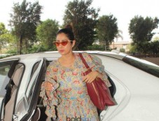 Sridevi Spotted At Airport Photos