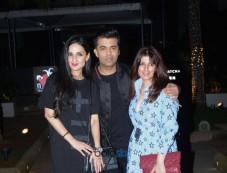 Twinkle Khanna With Anju And Karan Johar Spotted At Bandra Yauatcha Photos