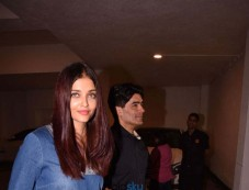 Abhishek Bachchan, Aishwarya Rai Bachchan & Karan Johar Dinner For Manish Malhotra's House Photos
