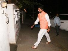 Abhishek Bachchan Spotted At Juhu Photos