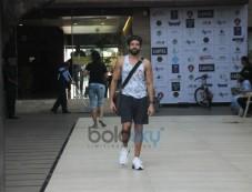 Farhan Akhtar Spotted At Bandra Photos