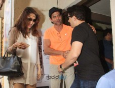 Hrithik Roshan And Madhuri Dixit With Family Spotted At Juhu PVR Photos
