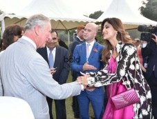 Shilpa Shetty In Anamika Khanna Outfit At Meeting With HRH The Prince Of Wales Photos
