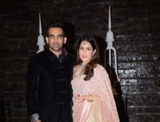 Zaheer Khan And Sagarika Ghatge Wedding Reception Photos