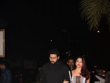 Aishwarya Rai Bachchan,Abhishek Bachchan And Ranbir Kapoor Spotted At Yauatcha BKC Bandra Photos