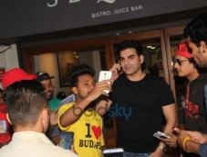 Arbaaz Khan With A Friend At Bandra Photos