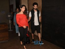 Shahid Kapoor And Mira Rajput At Screening Of 'Tiger Zinda Hai' Photos