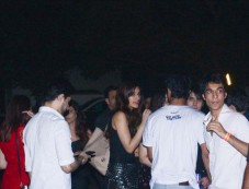 Sushant Singh Rajput , Kriti Sanon Spotted At Nupur Sanon's Birthday Party Barrel Andheri Photos