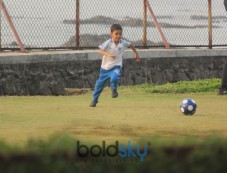 Aamir Khan's Son Azad Playing Football At Bandra Photos