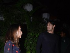 Ahan Shetty Spotted With Her Girlfriend At Olive Bandra Photos