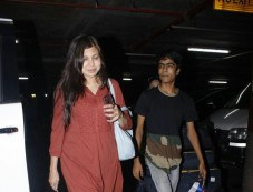 Alka Yagnik Spotted At International Airport Photos