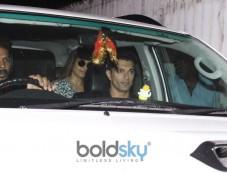 Bipasha Basu & Karan Singh Grover Spotted At Spa Juhu Photos