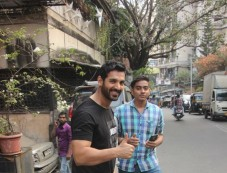 John Abraham Spotted At Bandra Photos