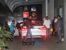 Sanjay Dutt, Sara Ali Khan And Arjun Kapoor Spotted At Ashutosh Gowariker Office Bandra Photos