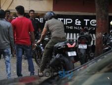 John Abraham Spotted With Bike At Bandra Photos