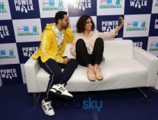 Malaika Arora, Ayushman Khurana And Sanya Malhotra At Max Bupa Walk For Health Marathon In New Delhi Photos
