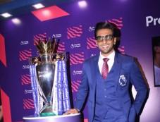 Ranveer Singh With Football Premier League Photos